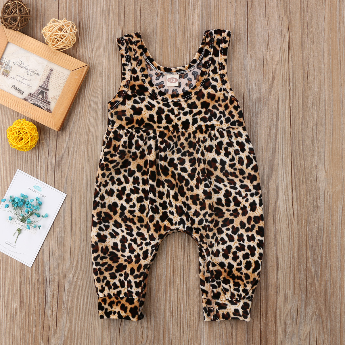 388d11dc1e2f Print Sleeveless Toddler Girl Rompers Clothing Newborn Baby Girls Leopard  Romper Jumpsuit Harem Pants Outfits Clothes Summer -in Rompers from Mother  & Kids ...