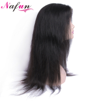 NAFUN Hair Brazilian Straight Human Hair Wigs 10 22 Lace Front Human Hair Wigs Natural Color Non Remy 100% Human Hair Wigs