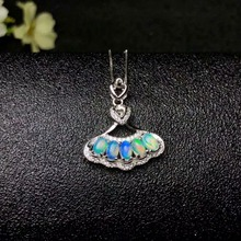 shilovem 925 sterling silver Natural opal Pendants fine Jewelry Customizable women trendy wedding  new wholesale yhz030501ago