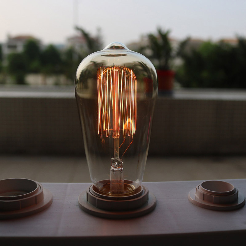 holiday lights Retro lamp st64 st58 vintage Dimmable bulb e27 incandescent bulb 220v 40w filament lamp lampada for home decor