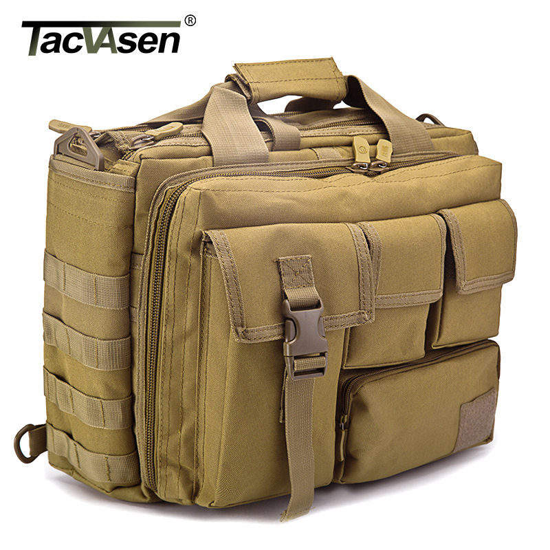 TACVASEN Men s Tactics Backpack Travel Shoulder Bags Camouflage Rucksack 15 6 inches Laptop Camera Military