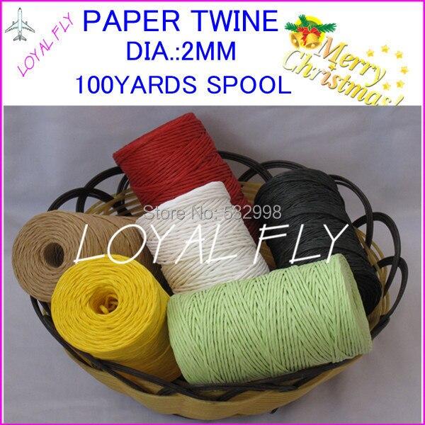 3 copë / shumë 10 ngjyra Raffia fjongo / Letra letre / spango - Furnizimet e partisë - Foto 3