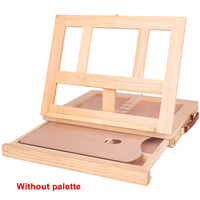 Practical Wooden Portable Sketching Desktop School Painting Easel Students Adjustable Folding Board Lightweight Art With Drawer