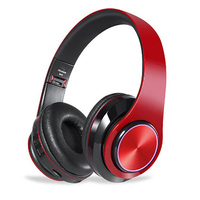 Smart Bluetooth headphone sport muisc stereo noise cancelling wired+wireless foldable support TF card seven color light emitting