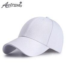 [AETRENDS]White baseball hats wool full a hat men snapback caps womens cap motocross Z-6296