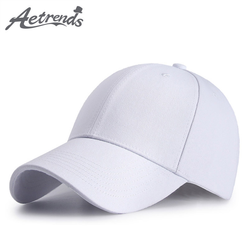 [AETRENDS]White   baseball   hats wool full a hat men snapback   caps   women's   baseball     cap   motocross Z-6296