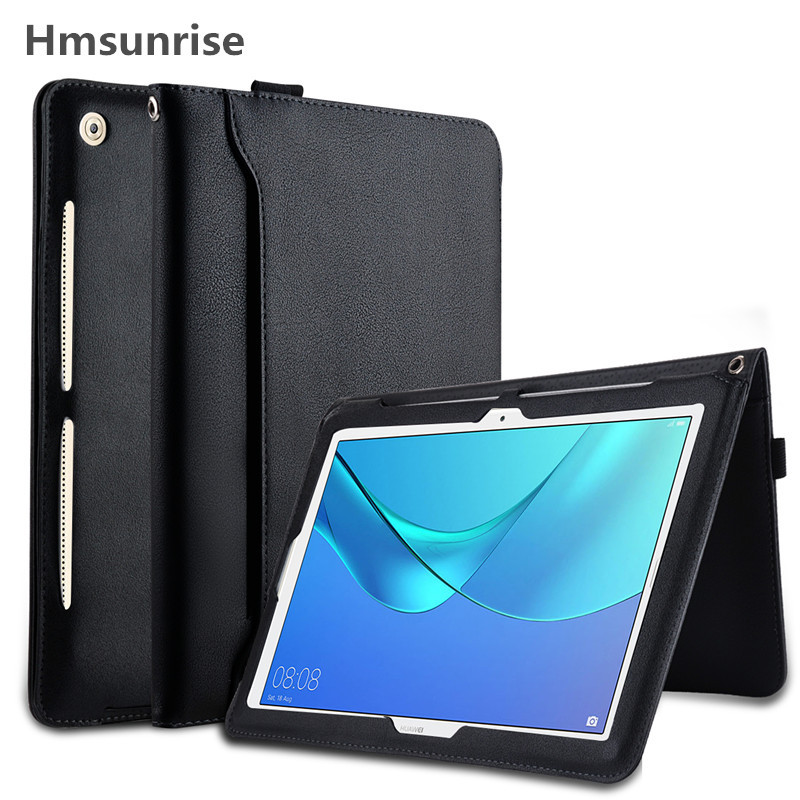 Hmsunrise Smart Case For Huawei MediaPad M5 10.8 10 Pro CMR-AL09 CMR-W09 10.8 inch Tablet Stand Cover Hand hold Belt Storage Bag huawei mediapad m5 cmr w09 10 8 inch 4gb 64gb face identification