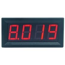 0-9.999A(10A) 4-знака после запятой бит Амперметр измерительный прибор с панелью 0,56 дюймов красный светодиодный