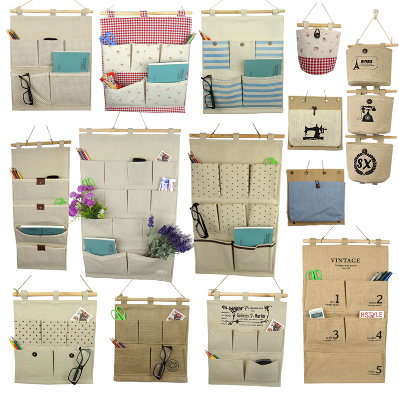 Wall Hanging Storage hang qiao 16 grid hanging storage bags clothing underwear hanging