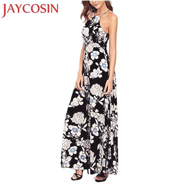 5cb8a22bd9f4 JAYCOSIN 2018 New Women Summer Boho Long Maxi Evening Party Dress Beach  Dresses Sundress Hot Dropship Freeshipping 30p