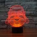 Buda Maitreya Ilusão 3D LED Night Light 7 Cores USB Colorido Tridimensional toque Candeeiro de mesa para Crianças IY803513 swich