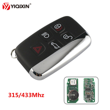 YIQIXIN Remote Smart Card Key 315Mhz/433Mhz ID47Chip For Land Rover Discovery 4 Freelander Range Sport Evoque Car