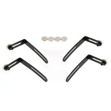 SCX10 90046 D90 4PCS RC Car Shell Body Mount Metal L-Bracket with Magnet for 1:10 Crawler Axial Accessories