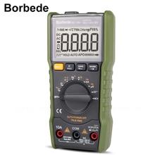 Borbede multimètre numérique DC AC, résistance, sortie à ondes carrées/testeur de température, comptage 6000