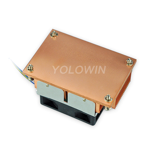 Image 2 - שרת רדיאטור מעבד מאוורר דיגיטלי אביזרי גוף קירור מעבד קריר רדיאטור נחושת תולעת F9 01
