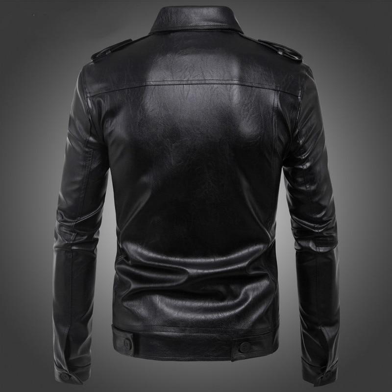 Noir Hommes Cuir Mode Vestes Fourrure hommes Manteau Manteaux Veste En veste Mâle Pu Moto Cuir Black De rqXvRrP