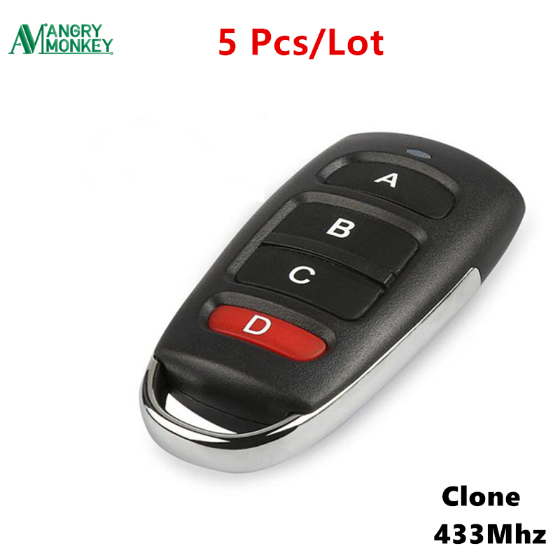 5 Pieces 433MHz wireless Copy Remote Control With Battery Garage Door Remote Control Backup Remote Key Clone 1527 PT2264 etc universal wireless rf remote control learning copy clone code remote control duplicator key 433mhz for garage gate door
