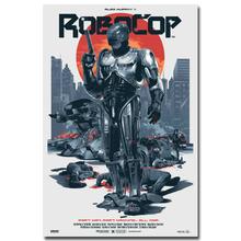 NICOLESHENTING RoboCop Art Silk Fabric Poster Print 13×20 32x48inch Hot Movie Picture Living Room Decoration 010