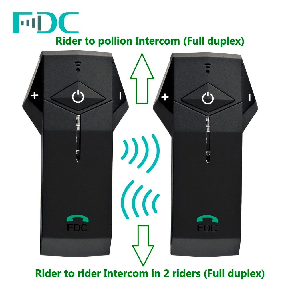 2 PC casque de moto de marque trademconn casque d'interphone Bluetooth 1000 M NFC avec radio FM