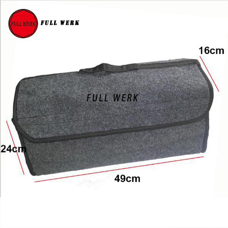 1pc Foldable Car Trunk Organizer Trunk Container Storage Bag Case Smart Tool Bag Car Stowing Tidying Interior Accessories