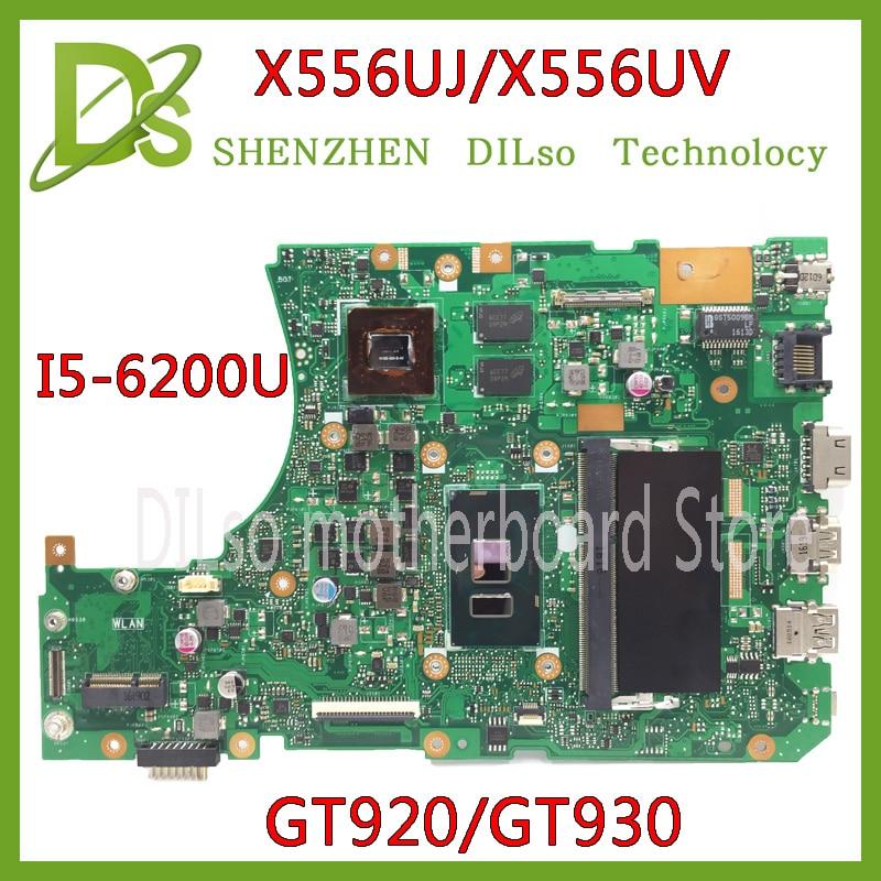 KEFU X556UJ X556UV motherboard for ASUS X556U X556UJ X556UV X556UF X556UR laptop motherboard I5-6200U GT920/GT930 tested