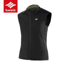 Santic Cycling Jackets Sleeveless Men Winter Bike Clothes Thermal Windproof MTB Road Bicycle Jersey Vest Downhill Ropa Ciclismo(China)