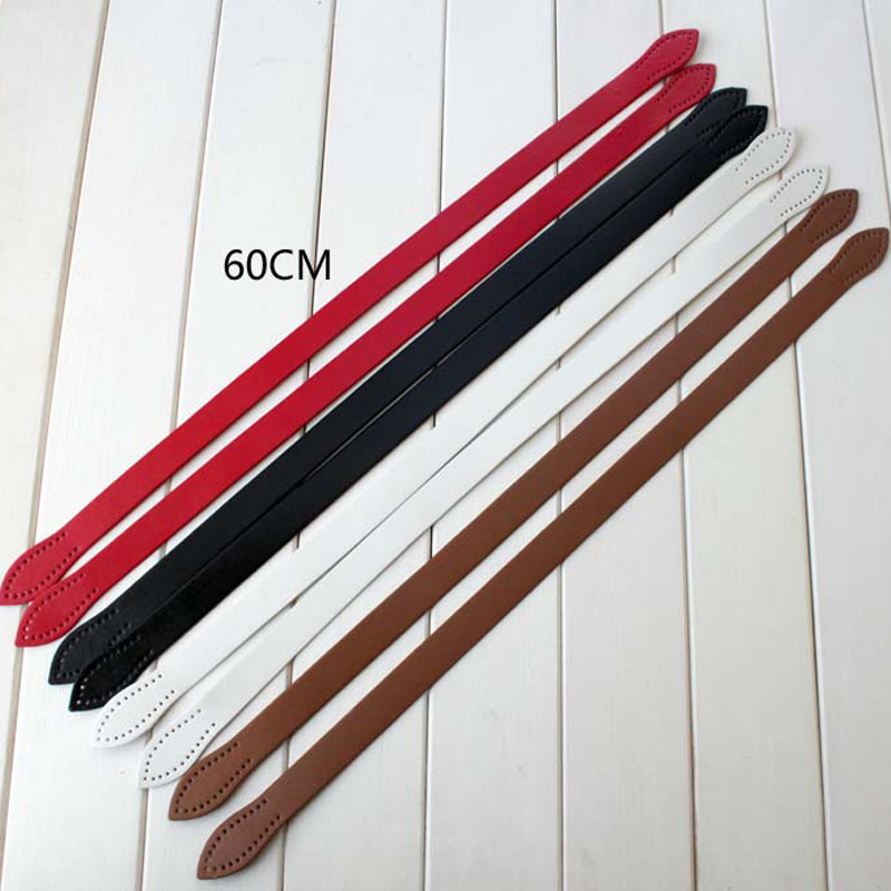 1pair Hand Sewing Leaves Imitation Leather Handle PU Leather Shoulder Bag Strap Belt Handle DIY Accessories High Quality KZ0006