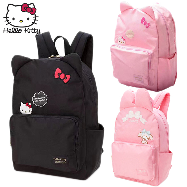 Hello Kitty Cute Cartoon Bag hellokitty Fashion Girls Women Single Shoulder Multifunctional  Backpack Children Plush Backpack 8ff23670f98b3