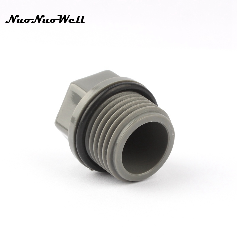 Pcs nuonuowell pvc quot male thread plug hexagon end cap