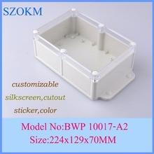 1 piece plastic enclosure project box housing enclosure plastic box electronics 224x129x70mm