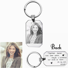 Photo Engraved KeyChain - Key Chain High Polished Stainless Steel Ring Personalised Gift Idea with Custom Dropshipping