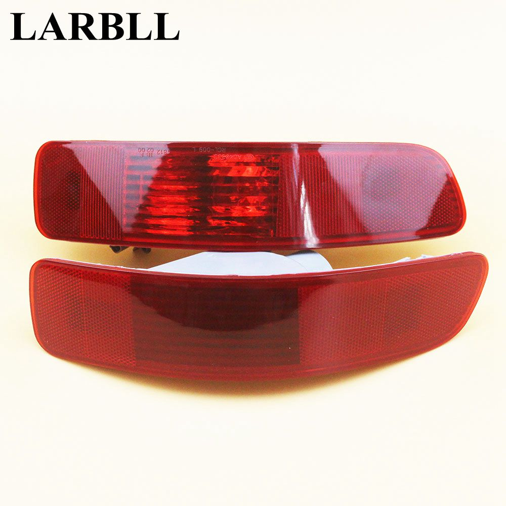 LARBLL 2PCS Rear Bumper Right Left Tail Fog Light Lamp Fit for Mitsubishi Outlander PEUGEOT 4007 2007-2012 CITROEN C-Crosser 1 pc rh without bulb tail bumper fog light rear fog lamp right for mitsubishi outlander 2013 2015