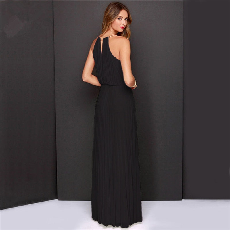 Top SaleBridesmaids Dresses Maxi Robe-De-Soiree Elegant HALTER Off-Shoulder Casual Women Summer