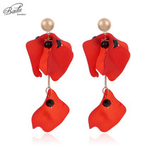 Badu 5 Colors Acrylic Flower Earrings for Women Big Statement Vintage Dangle Drop Earrings Wholesale badu 5 colors acrylic flower earrings for women big statement vintage dangle drop earrings wholesale