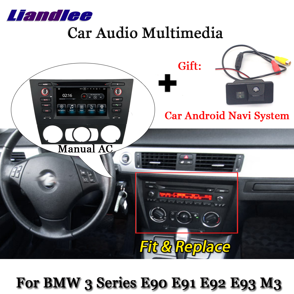Liandlee Android для BMW 3 серии M3 E90 E91 E92 E93 руководство AC 2006 ~ 2012 радио ТВ Carplay Камера gps навигатор мультимедиа