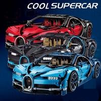 2018 New 4031Pcs Technic Figures Bugatti Chiron Racing Car Sets Compatible legoing 42083 Model Building Kits Blocks Bricks Toys