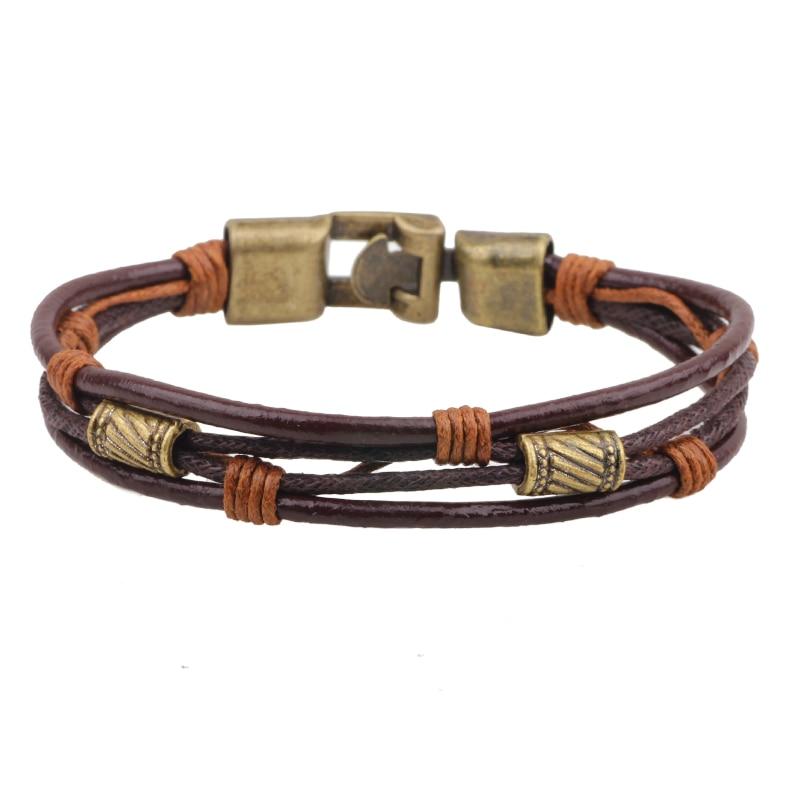 Simple Retro Woven Buckle Bracelets & Bangles Leather Jewelry Watch Accessories Gift Bracelet Men Women feminino pulseras mulher