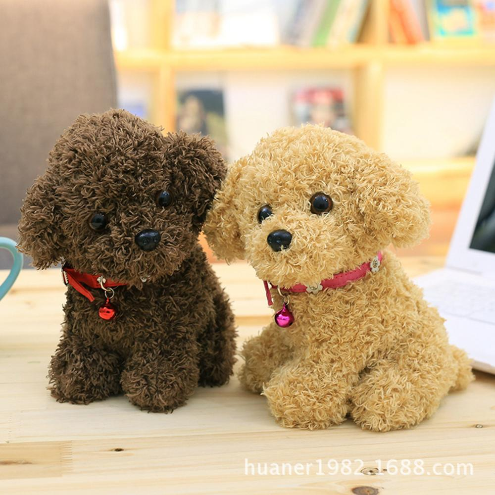22cm simulation teddy dog doll cute poodle plush toy animal suffed doll Christmas gift high quality cute poodle dog plush toy good quality stuffed animal puppy doll model soft doll kids gift baby toy christmas present