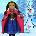 2015 new arrival fashion 18 inch american girl doll clothes of dress and red cloak