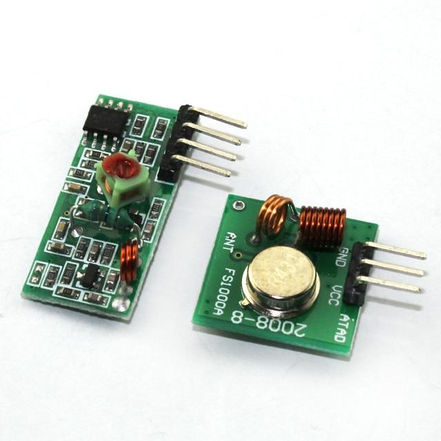 1 lot = 1 paire (2 pcs) 433 mhz RF émetteur et récepteur lien Module kit pour Arduino/ARM/MCU WL diy 433 mhz sans fil DIY Kit de Démarrage