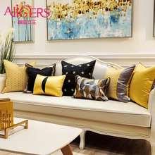 Avigers Gold Black Cushion Covers Luxury Modern Star Bee Decorative Pillow Cases for Sofa Bedroom Living Room Car