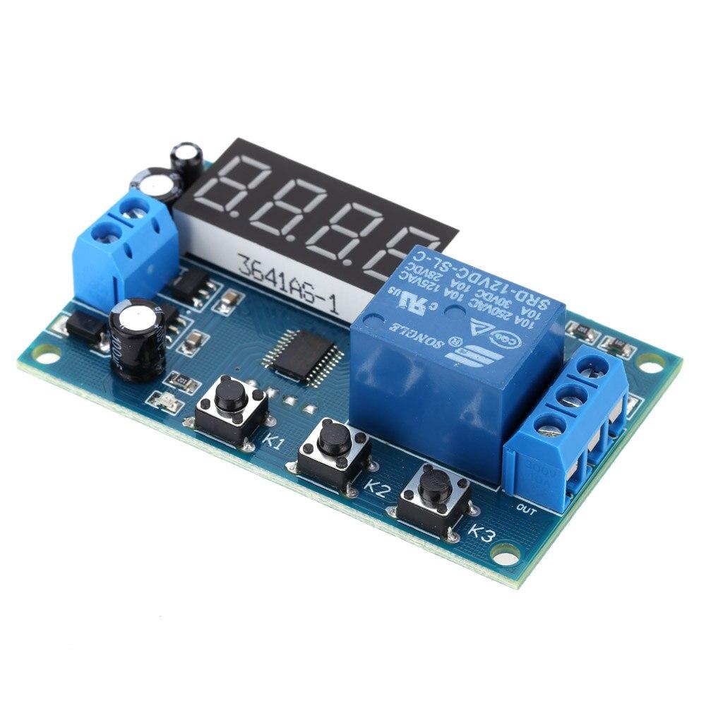 משולב מודול ממסר זמן עיכוב מחזור שליטת מתג עיתוי טיימר DC 12 V תצוגת LED זמן בקרה חכמה