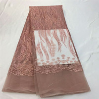 Hot Sale Beautiful African French Tulle Net Lace Fabric For Bridal Dresses High Quality Nigerian French