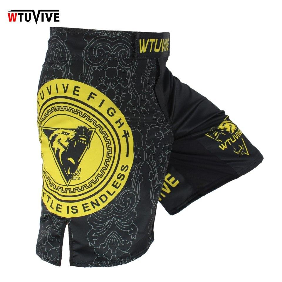 WTUVIVE желтый узор тхэквондо дышащий фитнес Штаны боксерские Шорты Тигр Муай Тай Шорты ММА Муай Тай короткие boxeo тайский
