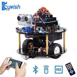 Keywish робот для Arduino UNO R3 умные автомобили комплект приложение RC удаленного Управление PS2 ультразвуковой Bluetooth модуль стволовых игрушки для