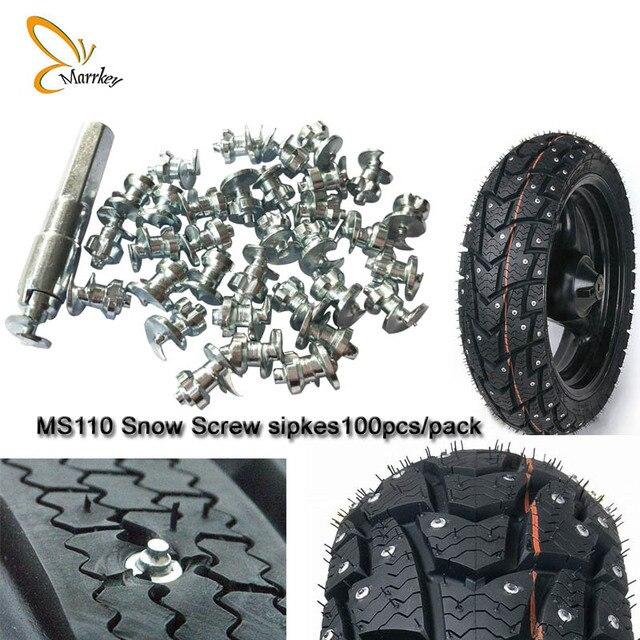 Marrkey 100 STÜCKE MS110 Hartmetall Reifen/Schraube Schnee Spikes/spikes für reifen/Rad Schnee ketten Stud schraube reifen/fahrrad reifen stud