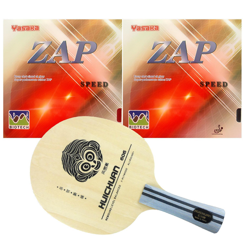 Pro Table Tennis PingPong Combo Rackets Galaxy YINHE HUICHUAN 606 with 2Pcs Yasaka ZAP Speed BIOTECH NO ITTF Long Shakehand-FL galaxy yinhe emery paper racket ep 150 sandpaper table tennis paddle long shakehand st