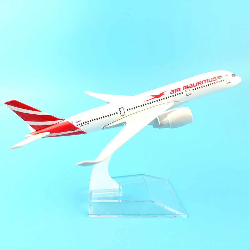JASON TUTU Diecast Metal Plane Model Airplane Model Air Mauritius Aircraft Model 1:400 16cm Airplanes Plane Toy Gift