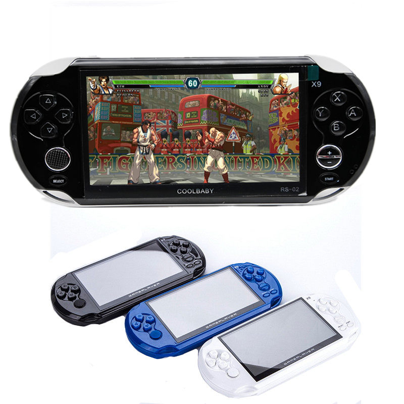 New 5.0 inch Screen Classic Game Console Support TV Out With MP3/Movie Camera Handheld Retro Game Player Build-in 80s Games