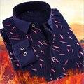Camisa de Manga Larga de los hombres A Mantener Caliente Engrosada Cálido Terciopelo Ropa de Algodón Camisa A Cuadros de Los Hombres de Gran Tamaño